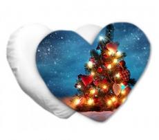 Cuscino cuore Natale
