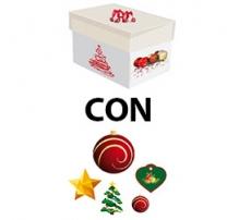 Kit scatola regalo + addobbi in cartoncino 2d