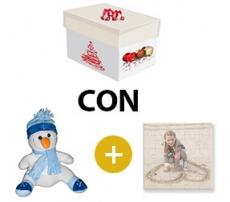 Kit scatola regalo + peluches + puzzle